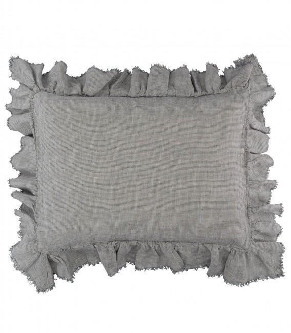 Funda de almohada BOHO Lino Lavado Arrugado