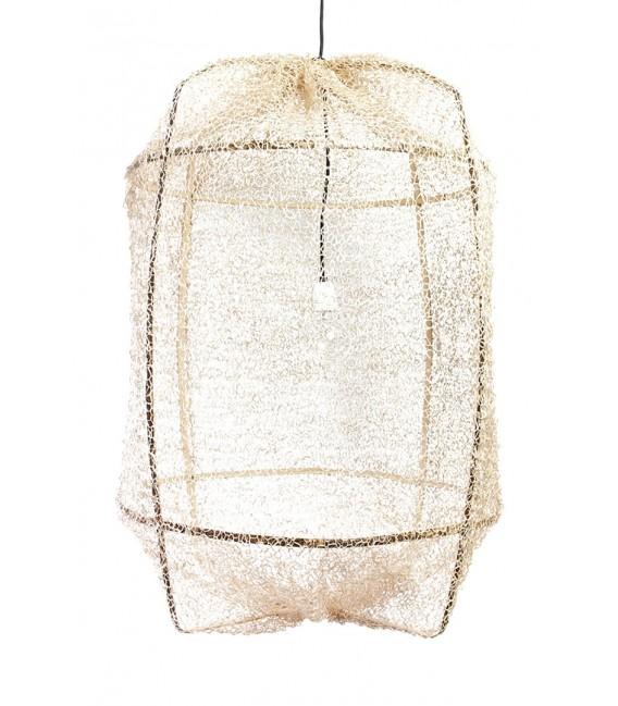 Lámpara Z1 Black Sisal Net Tea Dyed