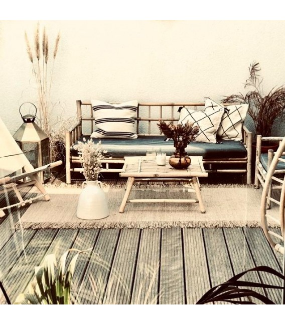 Sofá Lounge Bambú, grafito