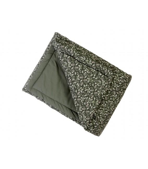 Edredón de cama individual de musgo floral
