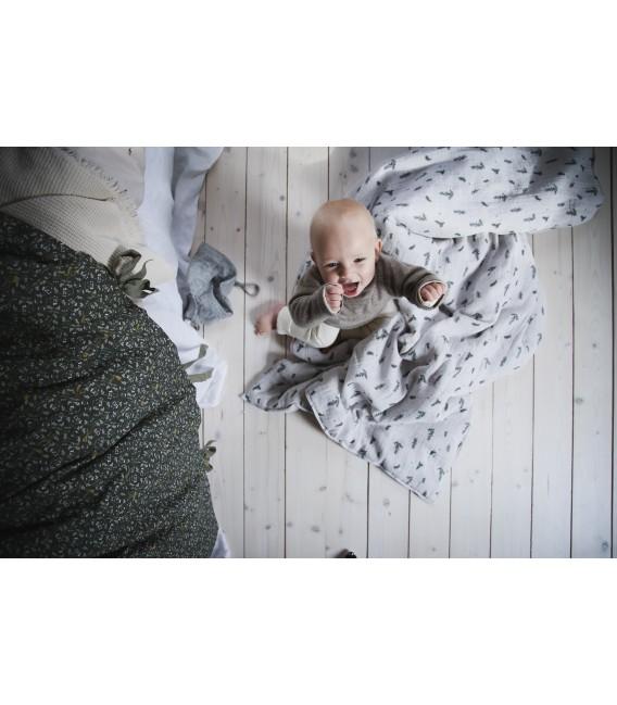 Funda de almohada en muselina Bluebell