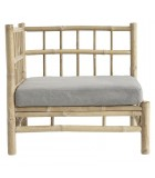 Butaca Bambú esquina con cojín gris